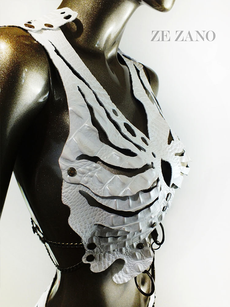 Pearl Carcass Leather Top