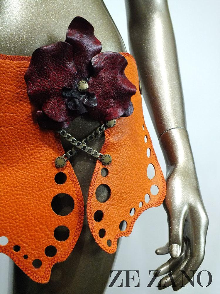 Hawaiian Nights Leather Skirt